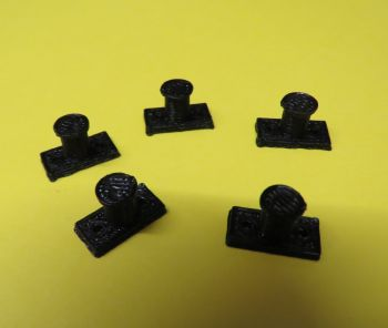 O Scale Mooring Bollards - pack of 5